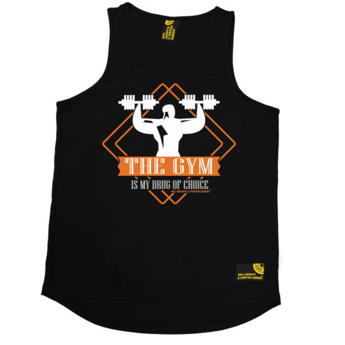 The Is My Drug Of Choice SWPS MENS DRY FIT VEST birthday fashion gift training