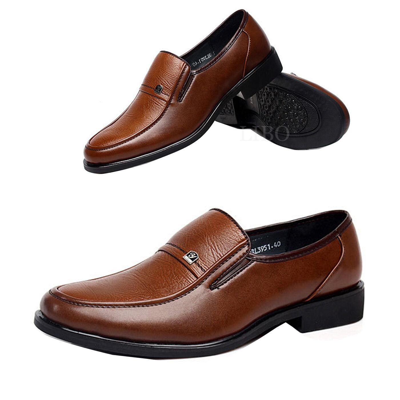 Hombre Nuevo Zapatos De Vestir Bodas Sin Cordones Oxford Clásico Bodas Vestir Negocios Marrón 5b3dd4