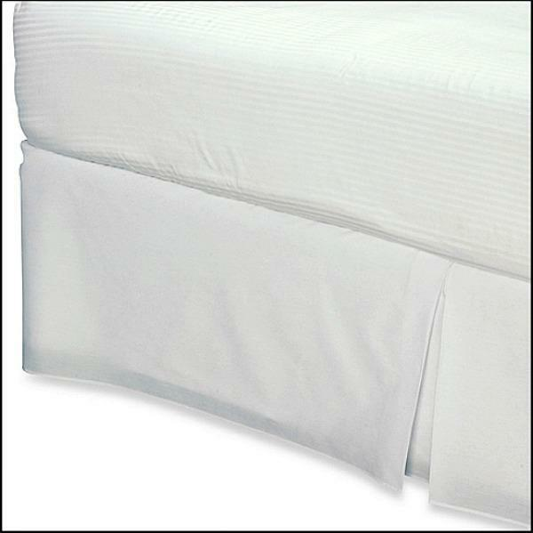 NEW Smoothweave Twin Extra Long Bed Skirt In White Twin XL