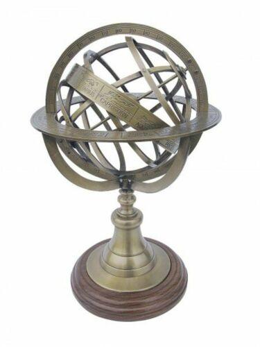 Armillarsphäre Barocke Bronze Weltmaschine Messing bronziert Edelholz
