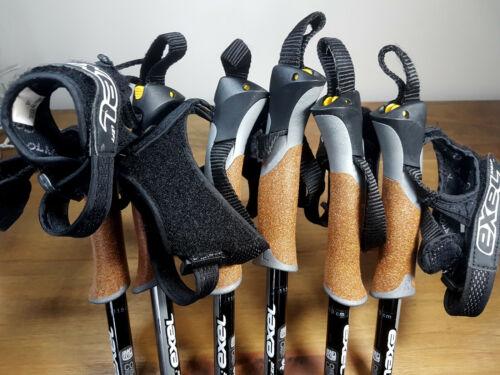 115cm Pair Exel Nordic Walker Trainer Poles Walking Sticks FINLAND 110cm