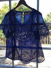 Étoile Isabel Marant  Blue Arthel Broderie Anglaise Cotton Top size M Super Rare