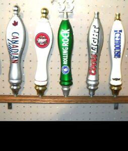 Wall Mounted 5 Place Beer Tap Handle Display Shelf Solid