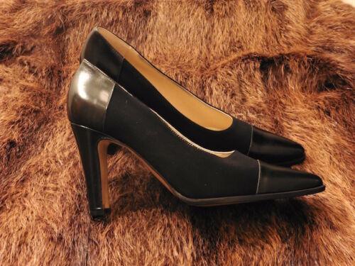 Zapato Cuero T 56 Súper 36 Tacón Nuevo De Tonos 1900 Vintage Negro Borgo 2 HqqAdn