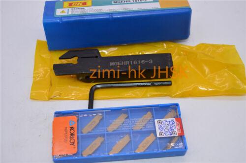 MGMN300-M NC302 10pc MGEHR1616-3 Holder Boring Bar Lathe Cut Grooving 3mm wide