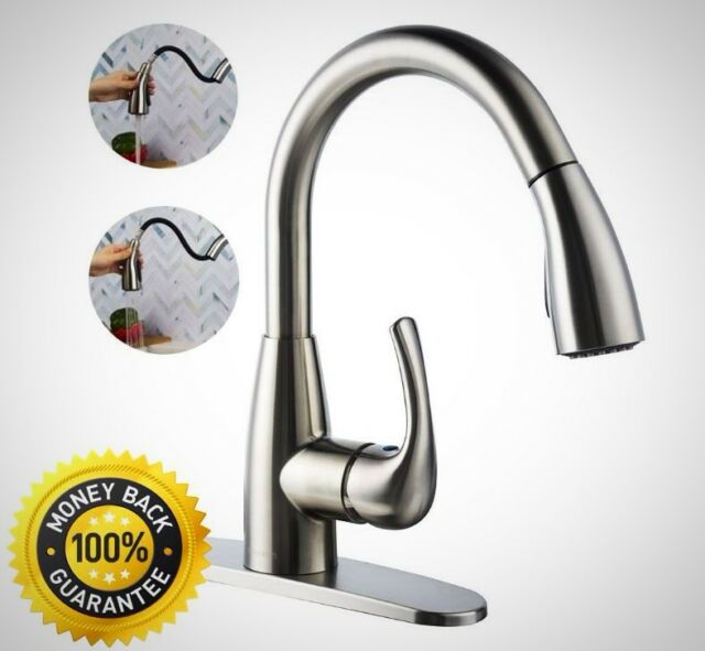 Kitchen Faucet Spray | Boharers Kitchen Faucet With Sprayer Spray Stream Brushed Nickel