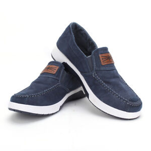 Fashion-Men-039-s-Sneakers-Casual-Slip-On-Low-Top-Shoes-Canvas-Denim-Shoes-Loafers