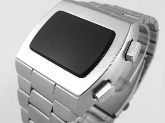 70s 1970s Old Vintage Style LED LCD DIGITAL Rare Retro Mens Watch 12 & 24 hr p1