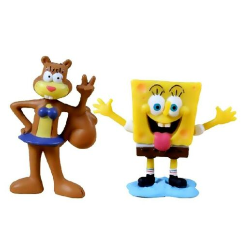 8 SpongeBob SquarePants Action Figures Doll Kids Playset Toy Cake Topper Decor
