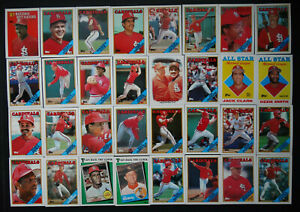 1988-Topps-St-Louis-Cardinals-Team-Set-of-40-Baseball-Cards-With-Traded
