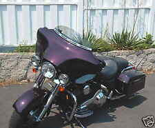 "USA Made 4"" Windshield light smoke fits Harley Davidson 96-2013 FLH DRESSER FLHX"