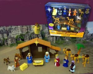 Nativity-Tales-of-Glory-with-17-Pieces-Hut-Animals-re-Magi-Christmas-Xma