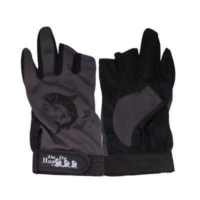 1Pair Man/'s Cycling Anti Slip Fishing Glove Half+Full Finger Sailing Gloves US