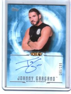 WWE-Johnny-Gargano-2017-Topps-Undisputed-Blue-On-Card-Autograph-SN-165-of-199