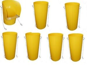 RUBBISH-CHUTE-LARGE-6-CHUTES-TOP-HOPPER-YELLOW-HAND-WELDED-IN-UK