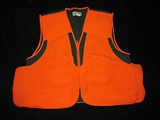 Texsport Fieldwear Blaze Orange Green Cotton Poly Shooting Hunting Vest Men's XL