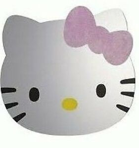 Hello-Kitty-Head-Safety-Wall-Mirror-Bedroom-Self-Adhesive-Approx-30-x-35-cm