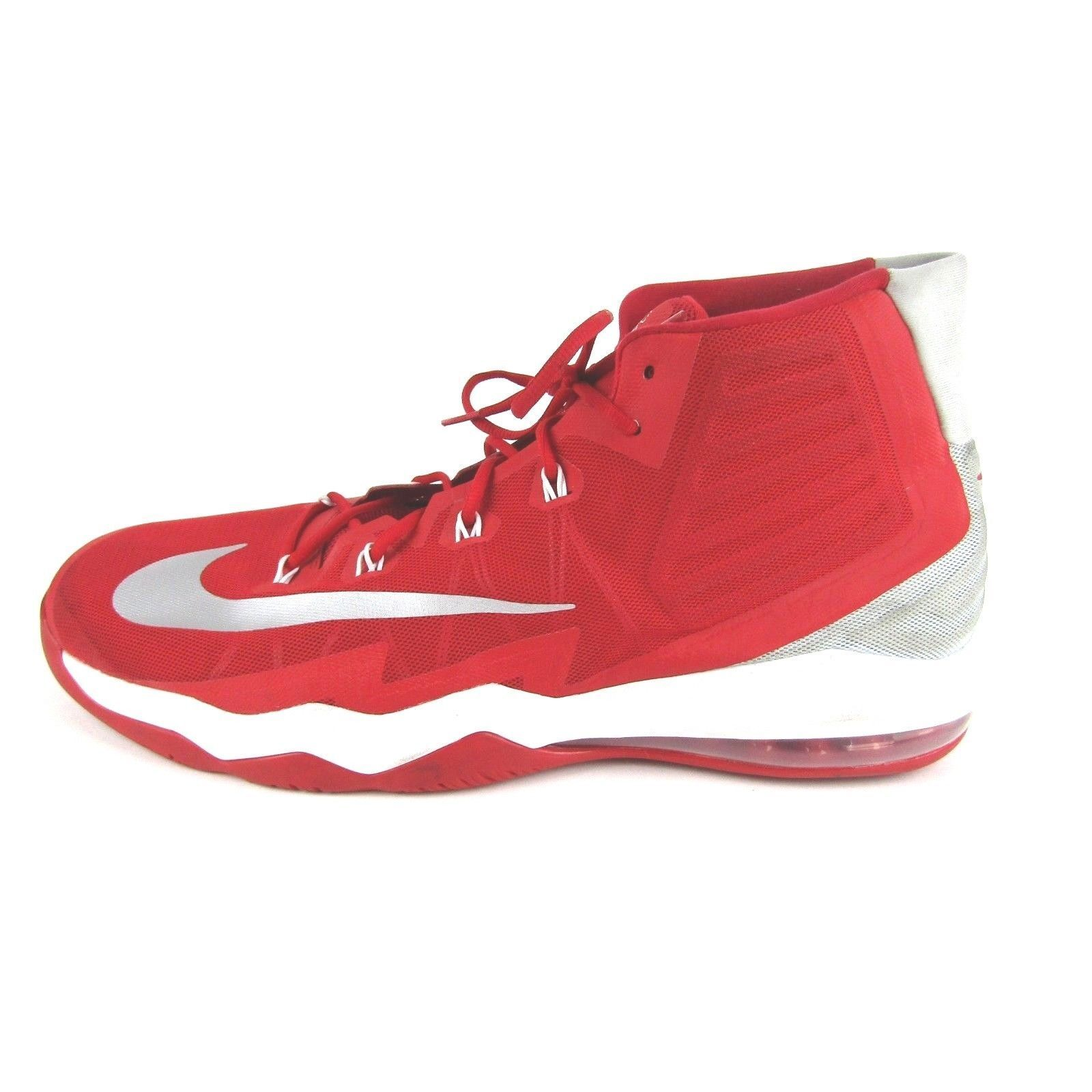 Nike Air Max Mens Audacity 2016 shoes University Red Silver 863115-663 Size 17