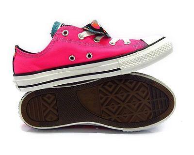 CONVERSE 654226F Chuck Taylor All Star Double Tongue Ox Pink Girls SZ 6 Junior | eBay