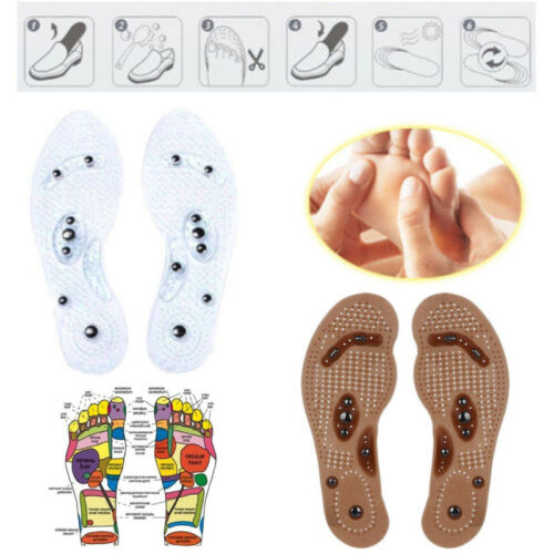 Foot Cushion Acupressure Slimming Insole Magnetic Massage Shoes Insert Pad
