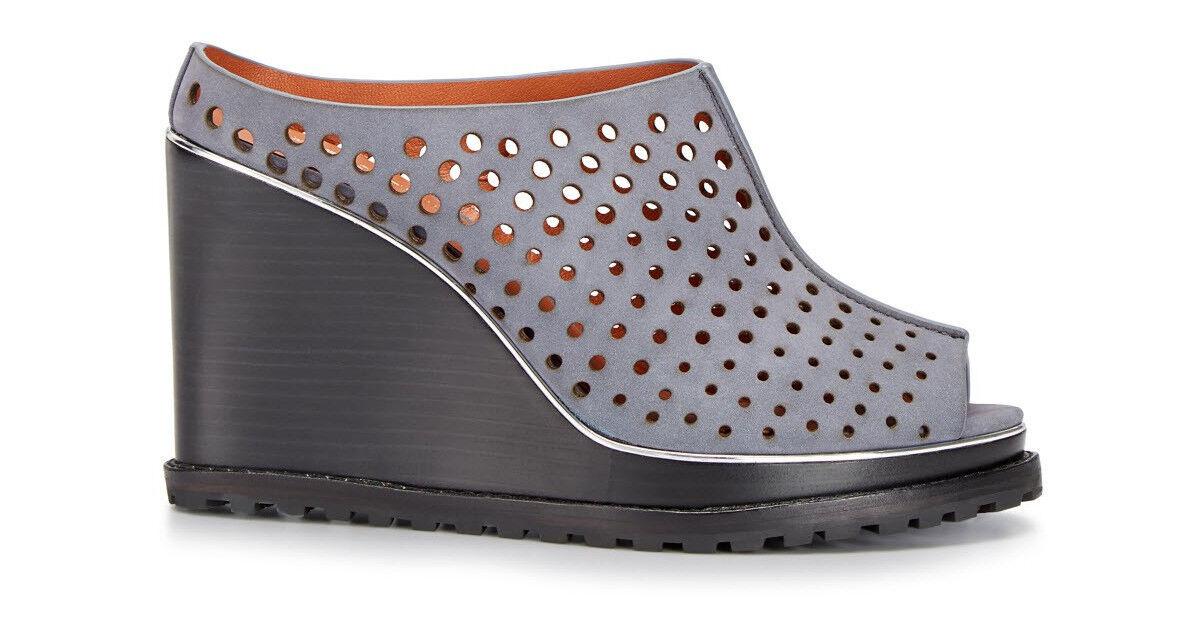 ampia selezione Rebecca Minkoff Hudson Perforated Wedge Mule Mule Mule grigio sz.10  negozio online