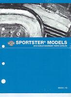 Harley-davidson 2015 Sportster Models Parts Catalog P/n 99451-15