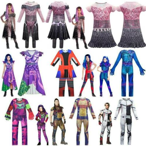 Kids Descendants 3 Mal Evil Carlos Halloween Jumpsuit Fancy Dress Costume Outfit