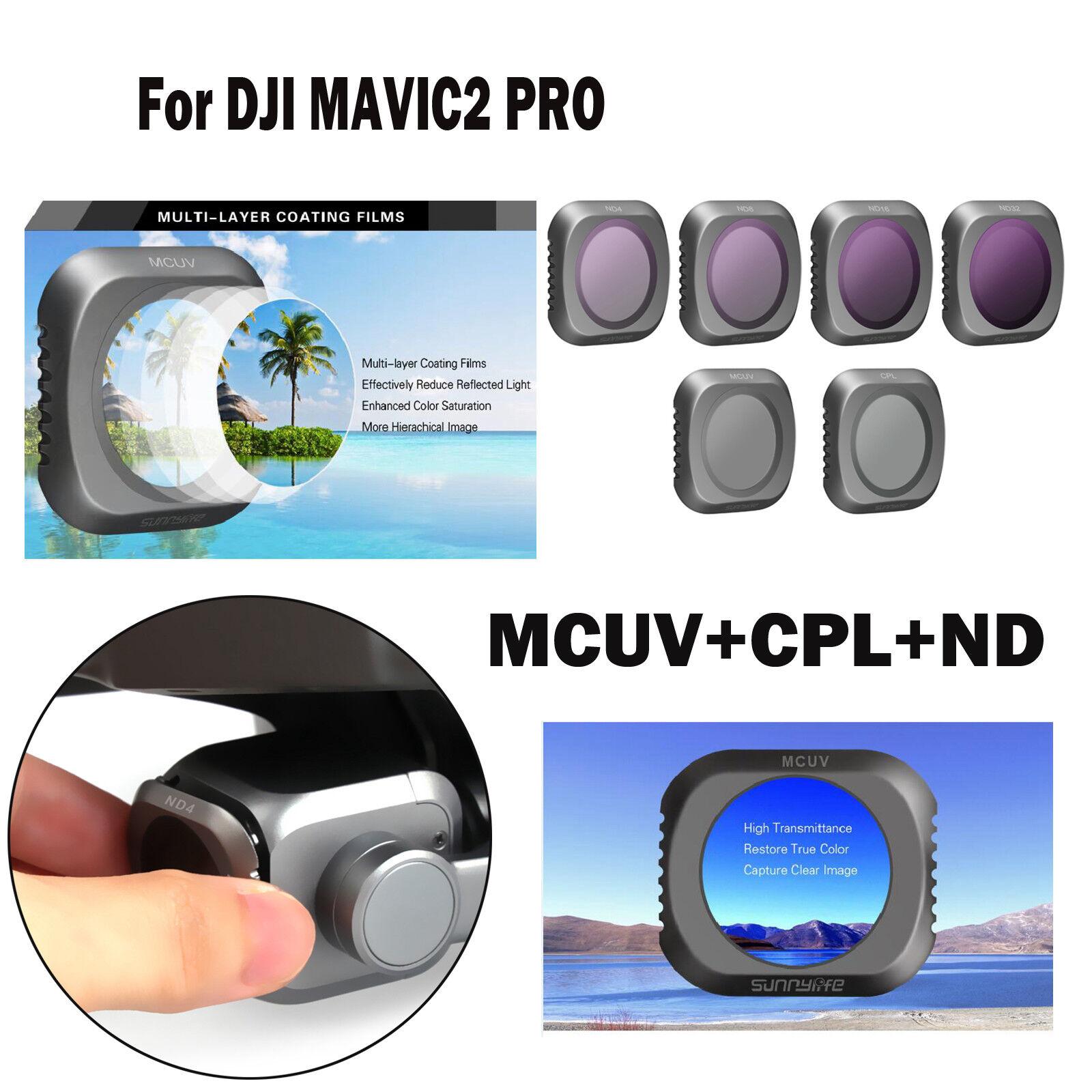 Für DJI MAVIC2 PRO Kamera HD Objektiv Filter Set MCUV+CPL+ND4 8 16 32 Objektiv