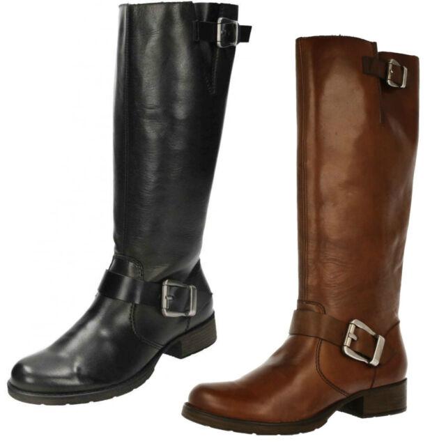 Gutscheincode 2019 professionell besserer Preis für Ladies Rieker Z9580 Black Or Brown Leather Warm Lined Long Boots