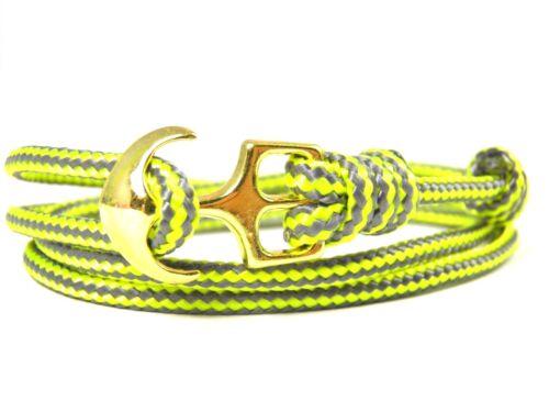 Pulsera ankerparacord-regulable-pulsera enrollada de estilo surfista-charcoal Grey Stripes