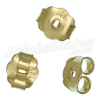 14K Gold Filled Friction Butterfly 10mm Earring Backs 2pcs