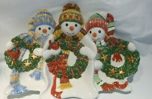 Fitz-and-Floyd-Essentials-Ceramic-Christmas-Platter-The-Flurries-Snowmans-15-5-034