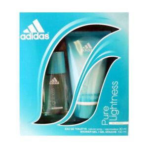 septiembre principal Cenar  Adidas Pure Lightness Women EDT Spray 1.0 oz + Shower Gel 5.0 - New in Worn  Box | eBay