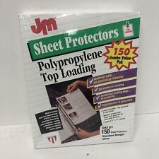 Usa Made Jm Top Loading Sheet Protectors 85x11 150pkg Clear Archival 3 Hole