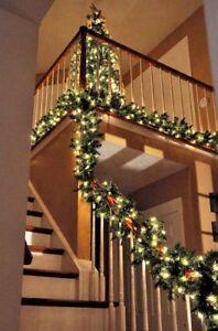 Natale-X-Large-4FT-Luxury-LIGHT-Up-LED-Pre-Illuminato-Decorato-Decorazione-Natalizia-Ghirlanda