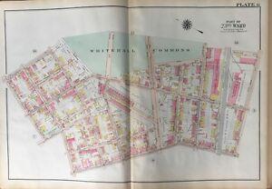 ORIGINAL 1920 FRANKFORD, PHILADELPHIA, PA, WHITEHALL COMMONS, ATLAS PLAT MAP