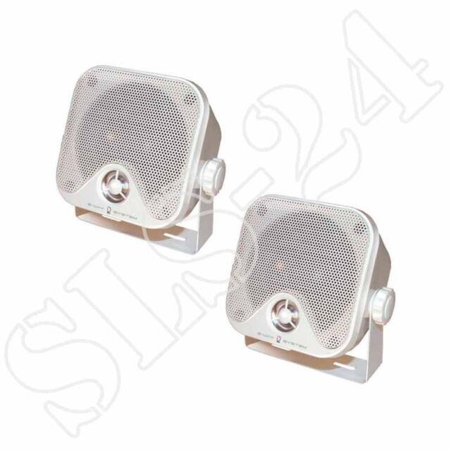 DIETZ CX_4MW 2-Wege KFZ LKW Aufbau-Boxen Marine Speaker Lautsprecher 90W weiss