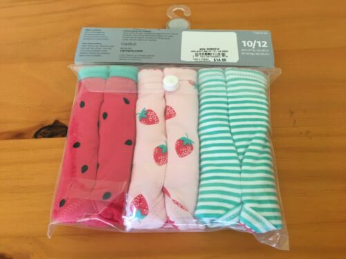 Watermelon New Carter/'s 3 Pack Underwear Girls Panties Strawberry Stripes