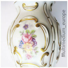 Porzellan Blumen Vase Royal Dux mit Gold Verzierungen