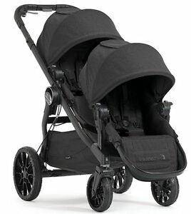 Baby-Jogger-City-Select-Lux-Twin-Tandem-Double-Stroller-with-Second-Seat-Granite