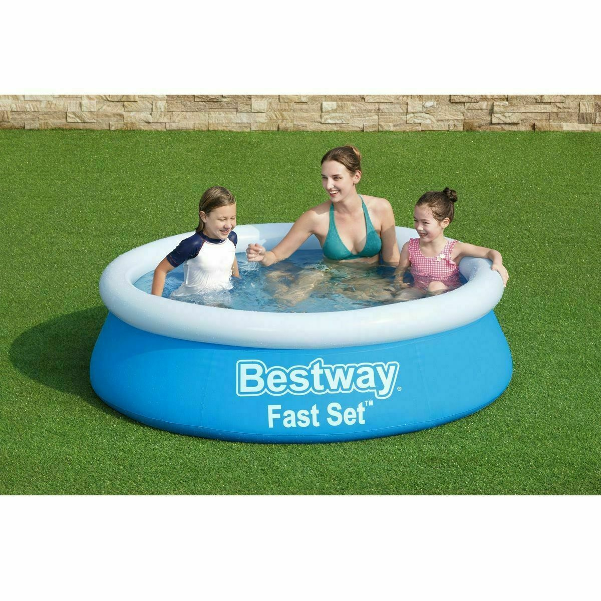Bestway Inflatable Fast Set Fill And Rise Pool Kids Will Have An Exciting Time D