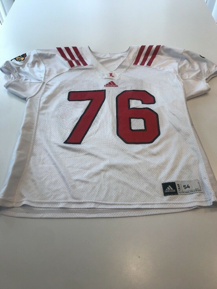 timeless design 8a598 f3694 Game Worn Used Louisville Cardinals UL Football Jersey Adidas Adidas Adidas  Size 54 d8c48c