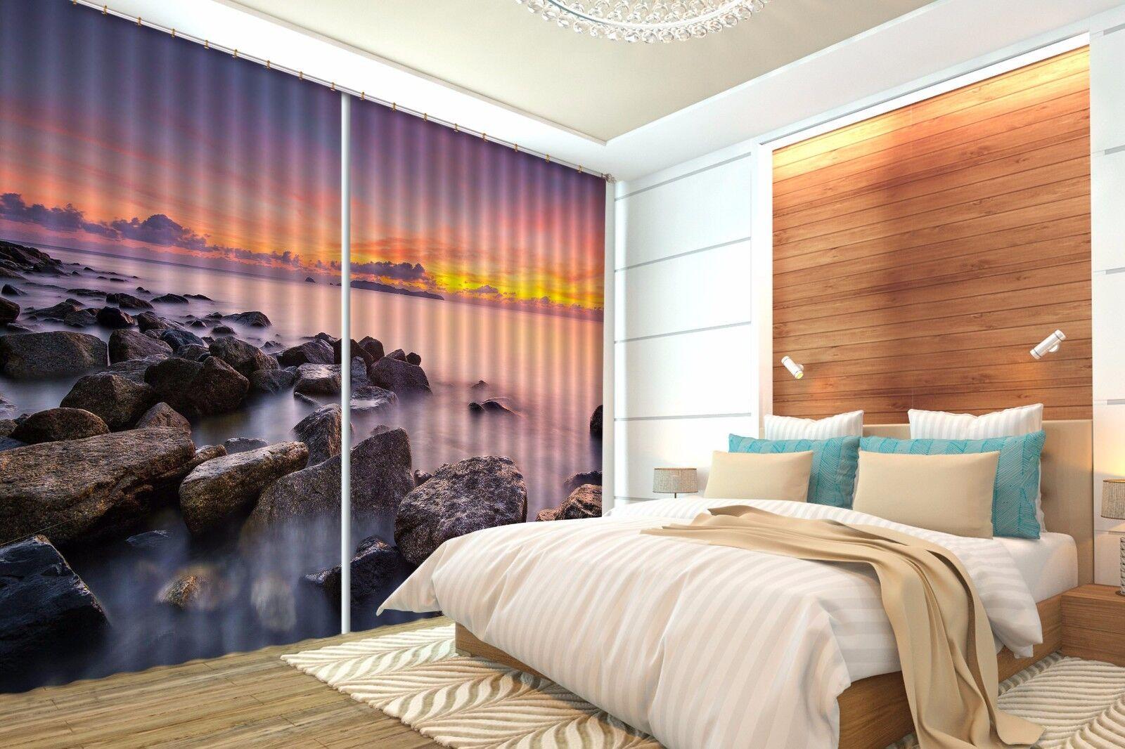 3d Ocean Reef 876 blocco foto sipario pressione sipario tende tessuto finestra de
