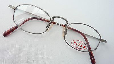 Temperato Occhiali Telaio Visibilia Nichel Libera Titanio Occhiali Magra Look Antico Marchio Size M-