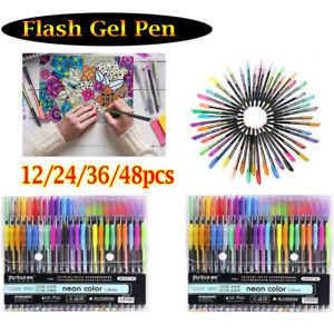 12-24-36-48-Piece-Gel-Pen-Set-Metallic-Pastel-Glitter-Neon-Painting-Pens