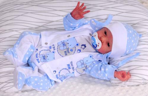 STRAMPLER 50 56 62 68 Mütze SET Erstlingsset Jäckchen Anzug Reborn Rosa Newborn