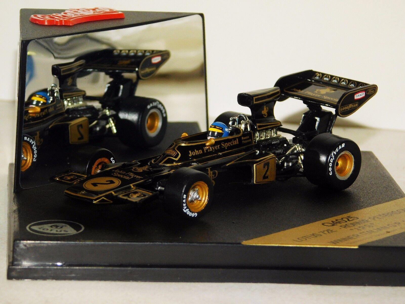 72E Lotus JPS  2 Ronnie Peterson ganador italiano Grand Prix 1973 Quartzo Q4025 1 43