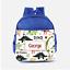 Childrens School Bag Personalised Dino Dinosaurs Scene Roar Boys Kids Backpack