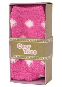COSY-TOES-PINK-SPOTS-LADIES-FLUFFY-SLIPPER-SOCKS-SIZE-4-7-NEW-GIFT-BOXED-ADULTS
