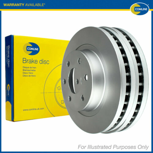 Fits BMW 5 Series F11 525d Genuine Comline Front Vented Coated Brake Discs